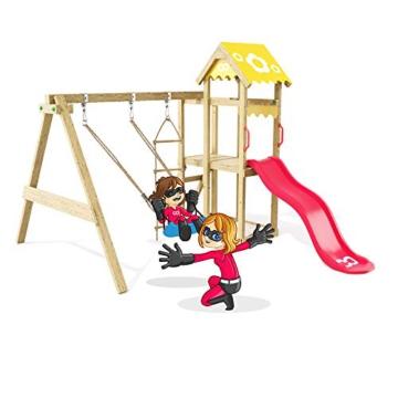 Spielturm Caring Heroows Schaukelgestell mit Kletterleiter, Sandkasten, Schaukel & Rutsche - 2