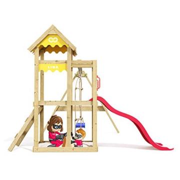 Spielturm Caring Heroows Schaukelgestell mit Kletterleiter, Sandkasten, Schaukel & Rutsche - 4