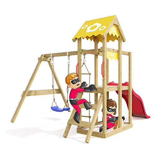 Spielturm Caring Heroows Schaukelgestell mit Kletterleiter, Sandkasten, Schaukel & Rutsche - 5
