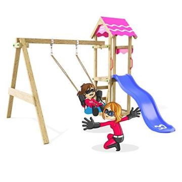 Spielturm Fast Heroows Kinder Schaukelgestell für den Garten mit Rutsche & Sandkasten - 2