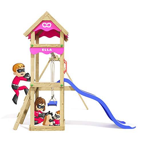 Spielturm Fast Heroows Kinder Schaukelgestell für den Garten mit Rutsche & Sandkasten - 4