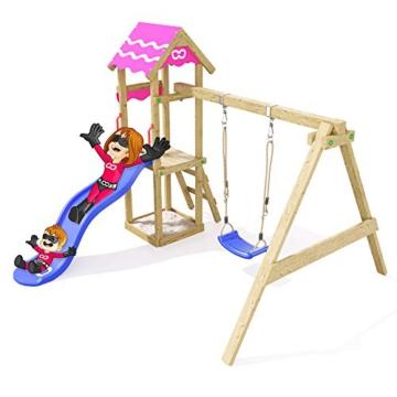 Spielturm Fast Heroows Kinder Schaukelgestell für den Garten mit Rutsche & Sandkasten - 5