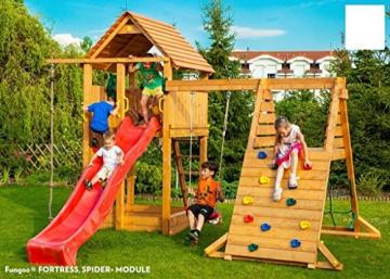 Spielturm FORTRESS-SPIDER-Podest 125/145cm, 2,90 m Rutsche und Schaukel - 2
