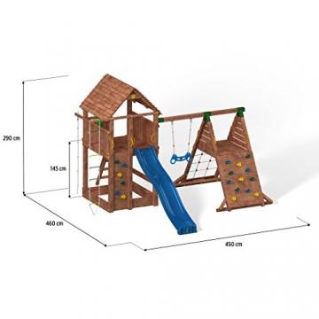 Spielturm FORTRESS-SPIDER-Podest 125/145cm, 2,90 m Rutsche und Schaukel - 4