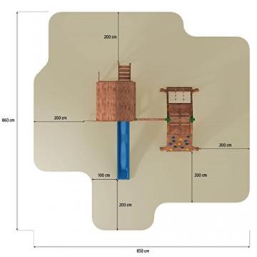 Spielturm FORTRESS-SPIDER-Podest 125/145cm, 2,90 m Rutsche und Schaukel - 5