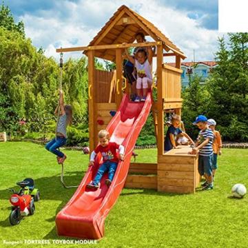 Spielturm FORTRESS-Toybox - Podesthöhe 145 cm mit 2,90 m Rutsche - 1