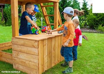 Spielturm FORTRESS-Toybox - Podesthöhe 145 cm mit 2,90 m Rutsche - 2