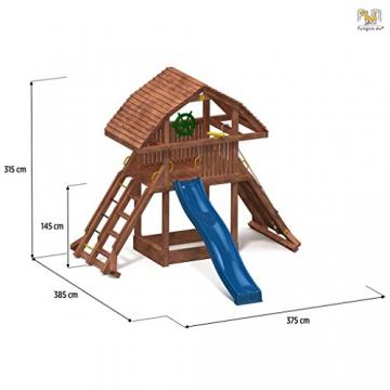 Spielturm GIANT Kletterturm mit 2,9 m Rutsche Sandkasten Kletterwand und vielen Klettermöglichkeiten - 2