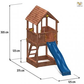 Spielturm JOY Kletterturm mit 2,20 m Rutsche Sandkasten - 2