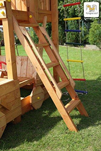 Spielturm JOY Kletterturm mit 2,20 m Rutsche Sandkasten - 4