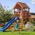 Spielturm JUNIOR Kletterturm mit 2,2 m Rutsche Sandkasten und Zubehör - 1