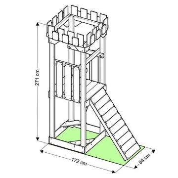 Spielturm - Kletterturm - Ritterburg