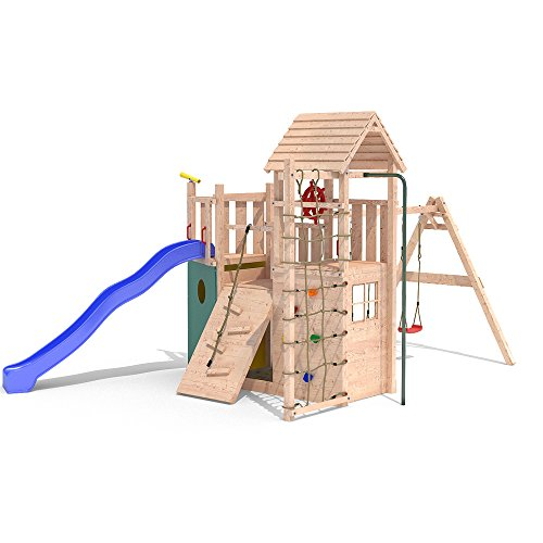 Spielturm KON TIKI NEO 2 Baumhaus Piratenschiff Rutsche 1,50m Podesthöhe (einfacher Schaukelanbau) -