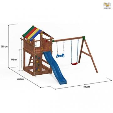Spielturm PARADISE MOVE Kletterturm Rutsche Sandkasten Kletterwand Schaukel - 2