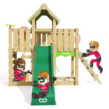 Spielturm Playful Heroows Schaukelgestell mit Kletterleiter und Kletterwand, Schaukel & Rutsche - 4