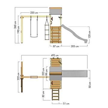 Spielturm Playful Heroows Schaukelgestell mit Kletterleiter und Kletterwand, Schaukel & Rutsche - 7