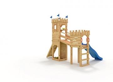 Spielturm - Ritterburg - mit 2 Klettertürmen -