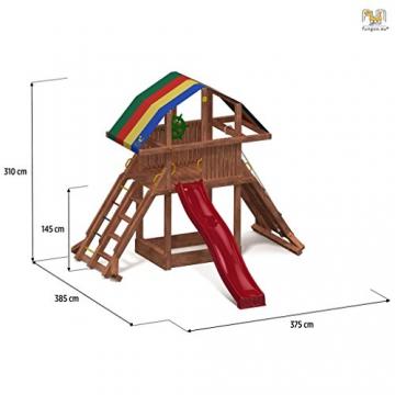 Spielturm ROCKET Kletterturm 2,9 m Rutsche Sandkasten Kletterwand und Zubehör - 2