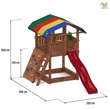 Spielturm SHIP Kletterturm 2,9 m Rutsche Sandkasten Kletterwand und Zubehör - 2