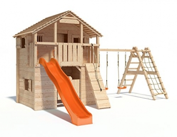 Klettergerüst Isidor : Spielturm silverado von isidor mit erweitertem schaukelanbau