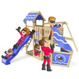 Spielturm Sparkling Heroows Stelzenhaus mit Kletterwand und Kletterleiter, großem Sandkasten, Schaukel & Rutsche - 1