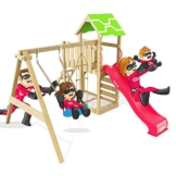 Spielturm Terrific Heroows Schaukelgestell mit Kletterleiter, Kletterwand, Schaukel & Rutsche - 1