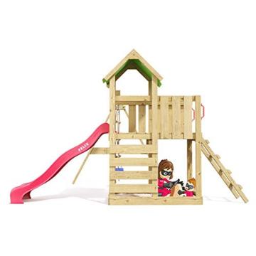 Spielturm Terrific Heroows Schaukelgestell mit Kletterleiter, Kletterwand, Schaukel & Rutsche - 4