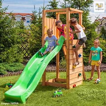 Spielturm TIPTOP Kletterturm 2,2 m Rutsche Sandkasten Kletterwand und Zubhör - 1