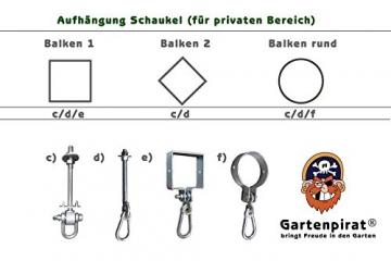 Trapez Holztrapez mit Turnringen von Gartenpirat® - 4