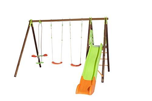 Trigano Kinder Schaukel Gartenschaukel aus Holz und Metall (Akeo) - 1