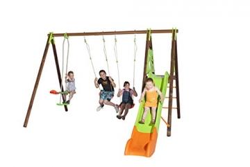 Trigano Kinder Schaukel Gartenschaukel aus Holz und Metall (Akeo) - 2