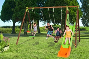 Trigano Kinder Schaukel Gartenschaukel aus Holz und Metall (Akeo) - 3
