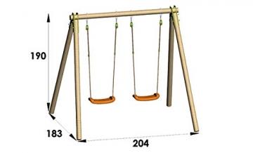 Trigano – NA200P6 – Spiel Air und Sport – Portique – Holz - 3