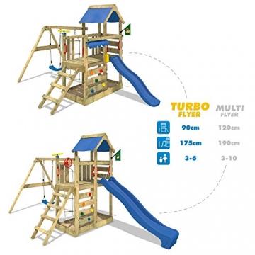 TurboFlyer Spielturm Kletterturm Schaukel Rutsche Podesthöhe 90 cm -