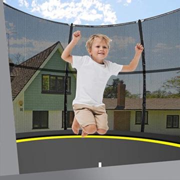Ultrasport Garten Trampolin mit 305 cm Durchmesser, mit Elastik-Seilsystem statt Sprungfedern, kein Quietschen, belastbar bis 150 kg, Trampolin Komplettset, Farbe: schwarz - 3