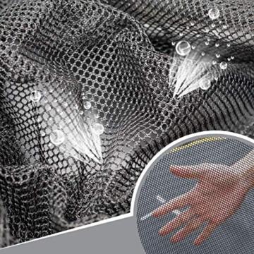 Ultrasport Garten Trampolin mit 305 cm Durchmesser, mit Elastik-Seilsystem statt Sprungfedern, kein Quietschen, belastbar bis 150 kg, Trampolin Komplettset, Farbe: schwarz - 5