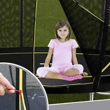 Ultrasport Garten Trampolin mit 305 cm Durchmesser, mit Elastik-Seilsystem statt Sprungfedern, kein Quietschen, belastbar bis 150 kg, Trampolin Komplettset, Farbe: schwarz - 7