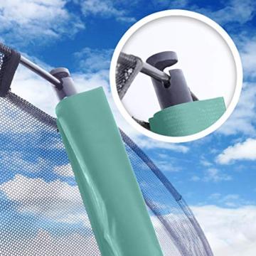 Ultrasport Garten Trampolin XL, 366cm Durchmesser, belastbar bis 150 kg, großes Outdoor Trampolin mit viel Platz und vielen Sicherheitsmerkmalen, Trampolin Komplettset, grün - 4