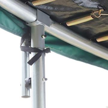 Ultrasport Garten Trampolin XL, 366cm Durchmesser, belastbar bis 150 kg, großes Outdoor Trampolin mit viel Platz und vielen Sicherheitsmerkmalen, Trampolin Komplettset, grün - 5