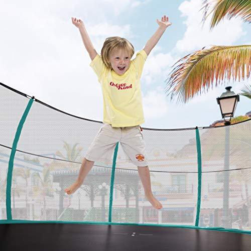 Ultrasport Garten Trampolin XL, 366cm Durchmesser, belastbar bis 150 kg, großes Outdoor Trampolin mit viel Platz und vielen Sicherheitsmerkmalen, Trampolin Komplettset, grün - 8