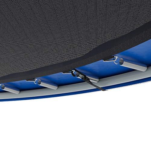 Ultrasport Gartentrampolin Trampolin Trampolin, mit Sprungfläche, Sicherheit, gepolsterten Netzpfosten und Kantenabdeckung, bis zu 120 kg, Unisex Kinder, Blau, 251 cm - 3