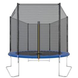 Ultrasport Gartentrampolin Trampolin Trampolin, mit Sprungfläche, Sicherheit, gepolsterten Netzpfosten und Kantenabdeckung, bis zu 120 kg, Unisex Kinder, Blau, 251 cm - 1