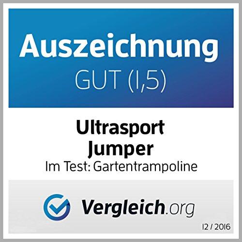 Ultrasport Gartentrampolin Trampolin Trampolin, mit Sprungfläche, Sicherheit, gepolsterten Netzpfosten und Kantenabdeckung, bis zu 120 kg, Unisex Kinder, Blau, 251 cm - 4