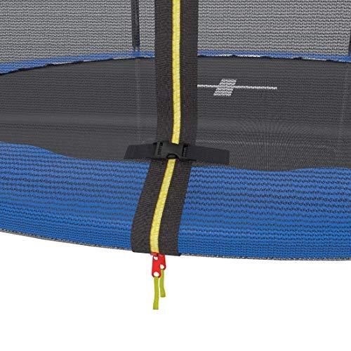 Ultrasport Gartentrampolin Trampolin Trampolin, mit Sprungfläche, Sicherheit, gepolsterten Netzpfosten und Kantenabdeckung, bis zu 120 kg, Unisex Kinder, Blau, 251 cm - 9
