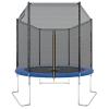 Ultrasport Outdoor Gartentrampolin Jumper, Trampolin Komplettset inklusive Sprungmatte, Sicherheitsnetz, gepolsterten Netzpfosten und Randabdeckung, bis zu 120 kg, blau, Ø 180 cm - 1