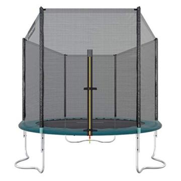Ultrasport Outdoor Gartentrampolin Jumper, Trampolin Komplettset inklusive Sprungmatte, Sicherheitsnetz, gepolsterten Netzpfosten und Randabdeckung, bis zu 120 kg, grün, Ø 251 cm - 1