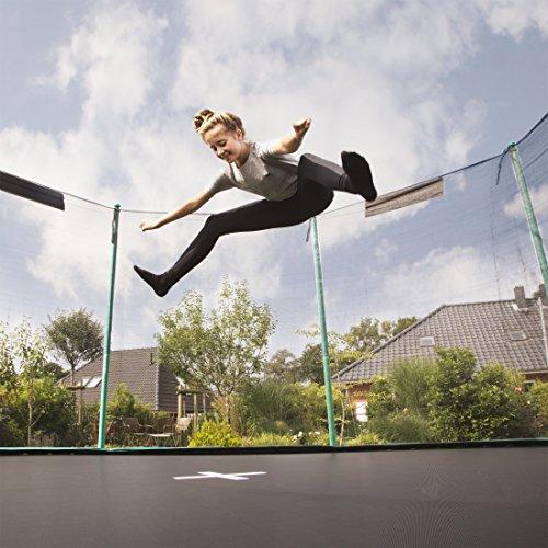 Ultrasport Outdoor Gartentrampolin Jumper, Trampolin Komplettset inklusive Sprungmatte, Sicherheitsnetz, gepolsterten Netzpfosten und Randabdeckung, bis zu 120 kg, grün, Ø 251 cm - 3