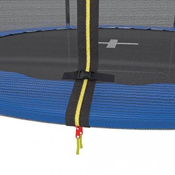 Ultrasport Outdoor Gartentrampolin Jumper, Trampolin Komplettset inklusive Sprungmatte, Sicherheitsnetz, gepolsterten Netzpfosten und Randabdeckung, bis zu 120 kg, blau, Ø 180 cm - 7