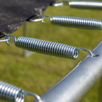 Ultrasport Outdoor Gartentrampolin Jumper, Trampolin Komplettset inklusive Sprungmatte, Sicherheitsnetz, gepolsterten Netzpfosten und Randabdeckung, bis zu 120 kg, blau, Ø 180 cm - 8