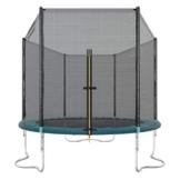 Ultrasport Outdoor Gartentrampolin Jumper, Trampolin Komplettset inklusive Sprungmatte, Sicherheitsnetz, gepolsterten Netzpfosten und Randabdeckung, Grün, 180 cm - 1